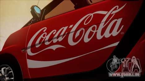 Smart ForTwo Coca-Cola Worker für GTA San Andreas Rückansicht