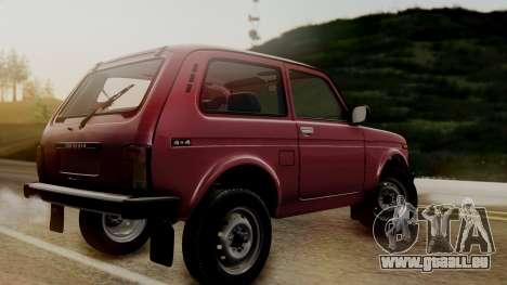 VAZ Niva 2121 Stoke pour GTA San Andreas sur la vue arrière gauche