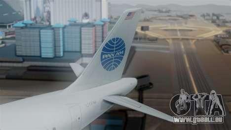 Airbus A320-200 Pan American World Airlines pour GTA San Andreas sur la vue arrière gauche