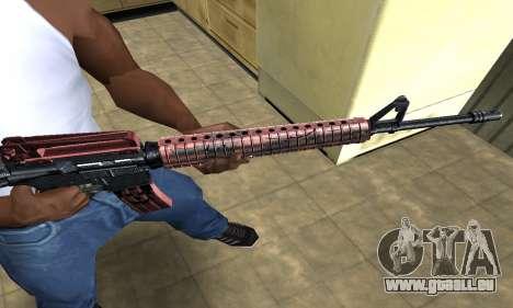 Brown Jungles M4 pour GTA San Andreas deuxième écran