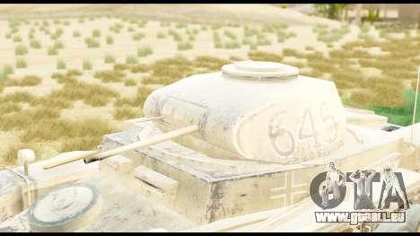 Panzerkampwagen II Desert für GTA San Andreas rechten Ansicht