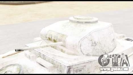 Panzerkampwagen II Snow für GTA San Andreas rechten Ansicht