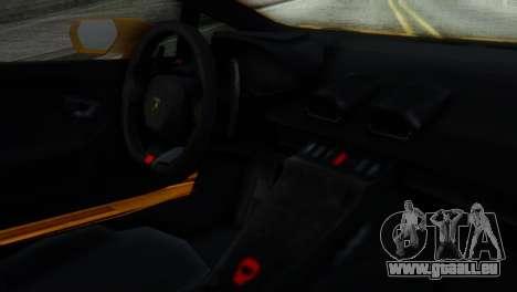 Lamborghini Huracan 2015 Horizon Wheels pour GTA San Andreas vue de droite