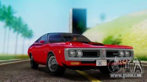Dodge Charger Super Bee 426 Hemi (WS23) 1971 pour GTA San Andreas vue arrière