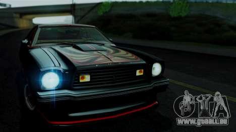 Ford Mustang King Cobra 1978 pour GTA San Andreas sur la vue arrière gauche