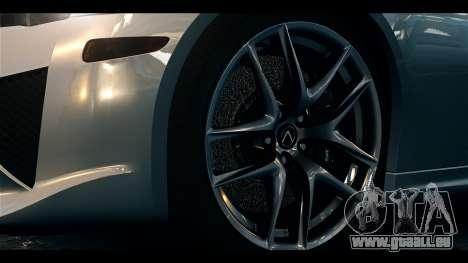 Lexus LF-A 2010 EPM pour GTA 4 est un droit
