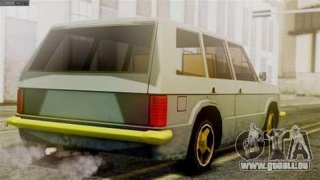 Huntley New Edition pour GTA San Andreas laissé vue