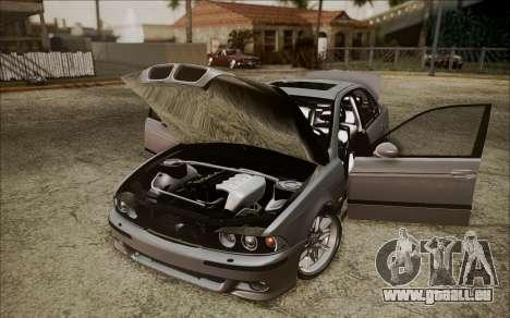 BMW M5 E39 E-Design pour GTA San Andreas vue arrière
