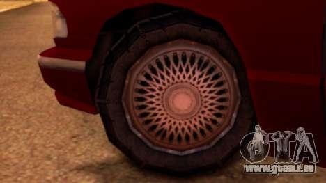 Premier Pickup pour GTA San Andreas sur la vue arrière gauche