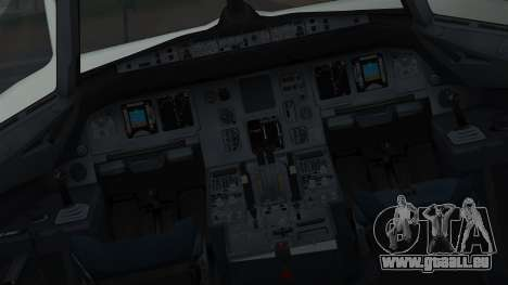 Airbus A320-200 Pan American World Airlines pour GTA San Andreas vue intérieure