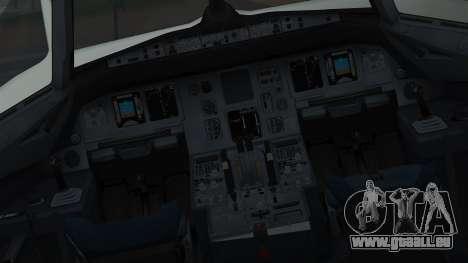 Airbus A320-200 Pan American World Airlines für GTA San Andreas Innenansicht