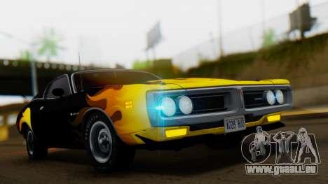 Dodge Charger Super Bee 426 Hemi (WS23) 1971 pour GTA San Andreas vue intérieure