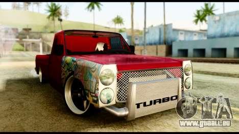 Nissan Junior Tuned pour GTA San Andreas sur la vue arrière gauche