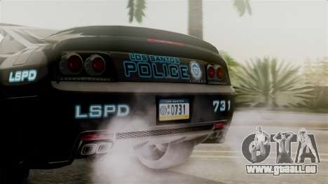 Hunter Citizen from Burnout Paradise Police LS für GTA San Andreas Innenansicht