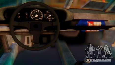 Porsche 911 Death Race für GTA San Andreas zurück linke Ansicht