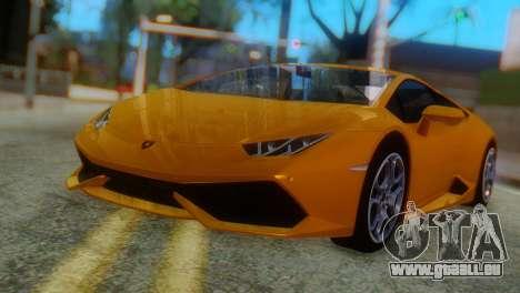 Lamborghini Huracan 2015 Horizon Wheels pour GTA San Andreas