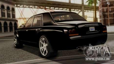 GTA 5 Enus Super Diamond für GTA San Andreas linke Ansicht