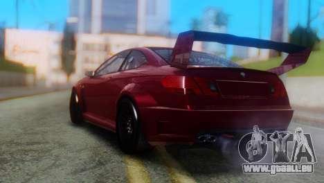 Benefactor Schwartzer Racecar pour GTA San Andreas laissé vue