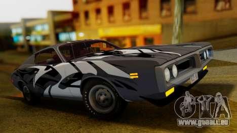 Dodge Charger Super Bee 426 Hemi (WS23) 1971 pour GTA San Andreas vue de dessous