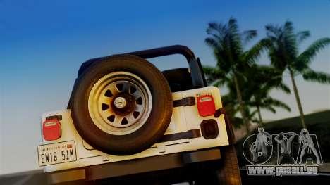 Jeep CJ-7 Renegade 1982 pour GTA San Andreas vue de droite