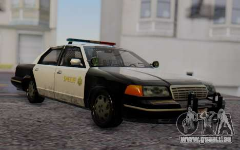 Ford Crown Victoria Sheriff pour GTA San Andreas