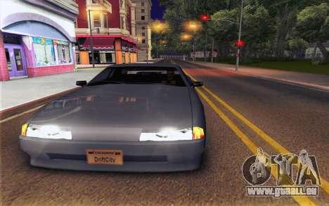 Elegy Explosion v1 pour GTA San Andreas sur la vue arrière gauche