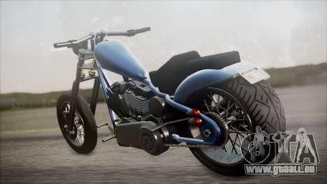 LCC Hexer GTA 5 HQLM pour GTA San Andreas sur la vue arrière gauche