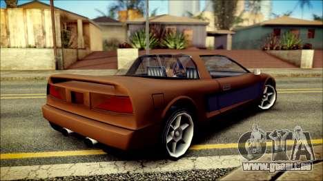 Infernus New Edition pour GTA San Andreas laissé vue