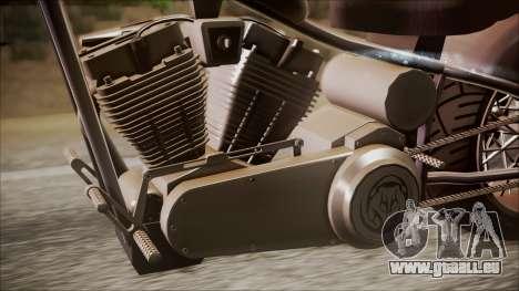 LCC Hexer GTA 5 IVF pour GTA San Andreas sur la vue arrière gauche