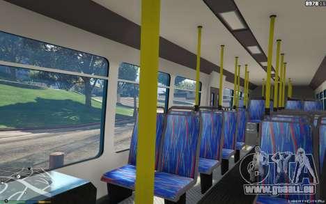 GTA 5 New Bus Textures v2 droite vue latérale