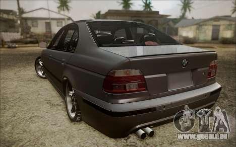 BMW M5 E39 E-Design pour GTA San Andreas sur la vue arrière gauche