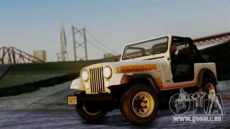 Jeep CJ-7 Renegade 1982 für GTA San Andreas