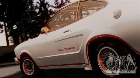 Ford Mustang King Cobra 1978 für GTA San Andreas Rückansicht