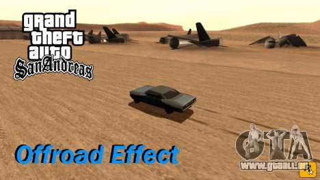 Offroad Effect pour GTA San Andreas