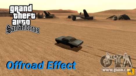 Offroad Effect für GTA San Andreas