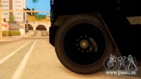 Sat Brimob Skin Enforcer from GTA 5 für GTA San Andreas zurück linke Ansicht