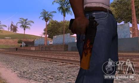 Deagle Flame pour GTA San Andreas quatrième écran