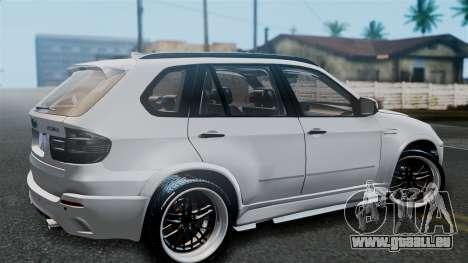 BMW X5M 2014 E-Tuning pour GTA San Andreas vue de droite