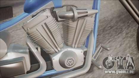 LCC Hexer GTA 5 HQLM pour GTA San Andreas vue arrière