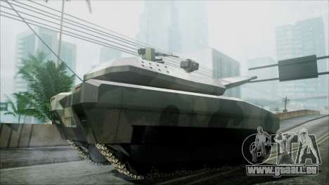PL-01 Concept Camo pour GTA San Andreas sur la vue arrière gauche