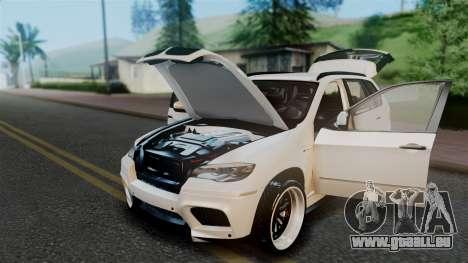 BMW X5M 2014 E-Tuning pour GTA San Andreas vue intérieure