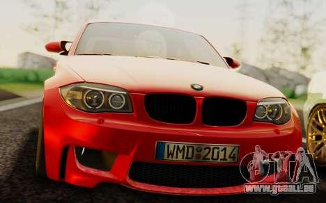BMW 1M E82 pour GTA San Andreas vue de droite