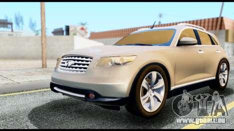 Infiniti FX45 pour GTA San Andreas