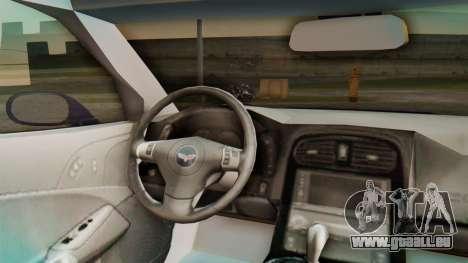 Chevrolet Corvette Sport für GTA San Andreas Rückansicht