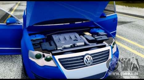Volkswagen Passat B6 pour GTA San Andreas vue intérieure