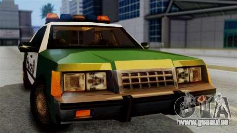 SAPD Cruiser pour GTA San Andreas vue de droite