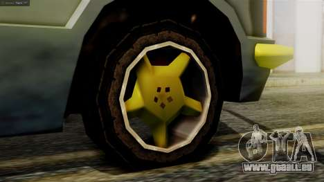 Huntley New Edition pour GTA San Andreas sur la vue arrière gauche