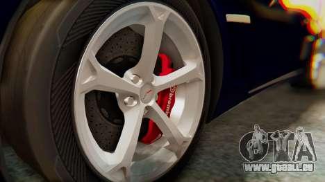 Chevrolet Corvette Sport pour GTA San Andreas vue de droite
