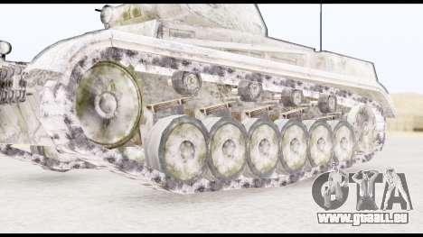 Panzerkampwagen II Snow für GTA San Andreas zurück linke Ansicht