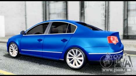 Volkswagen Passat B6 pour GTA San Andreas vue de droite